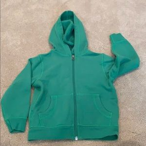 Toddler boy green sweatshirt